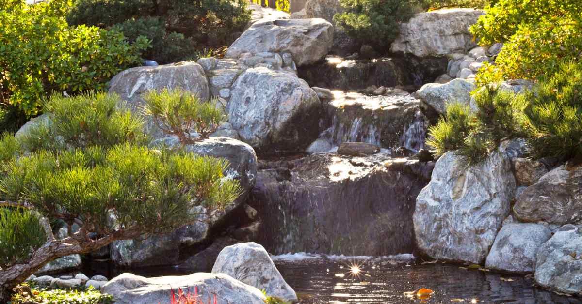 Waterval-in-Japanse-stijl