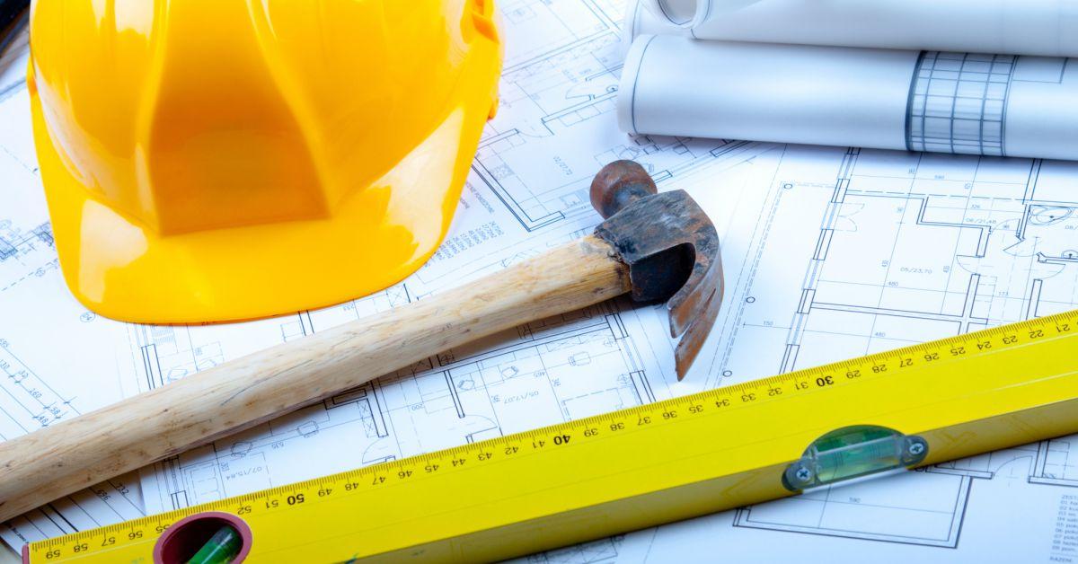 Plattegrond-met-bouwmaterialen
