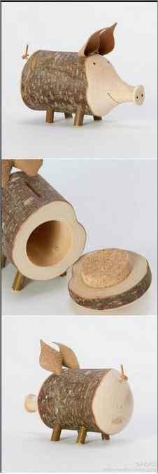 Spaarvarken-hout