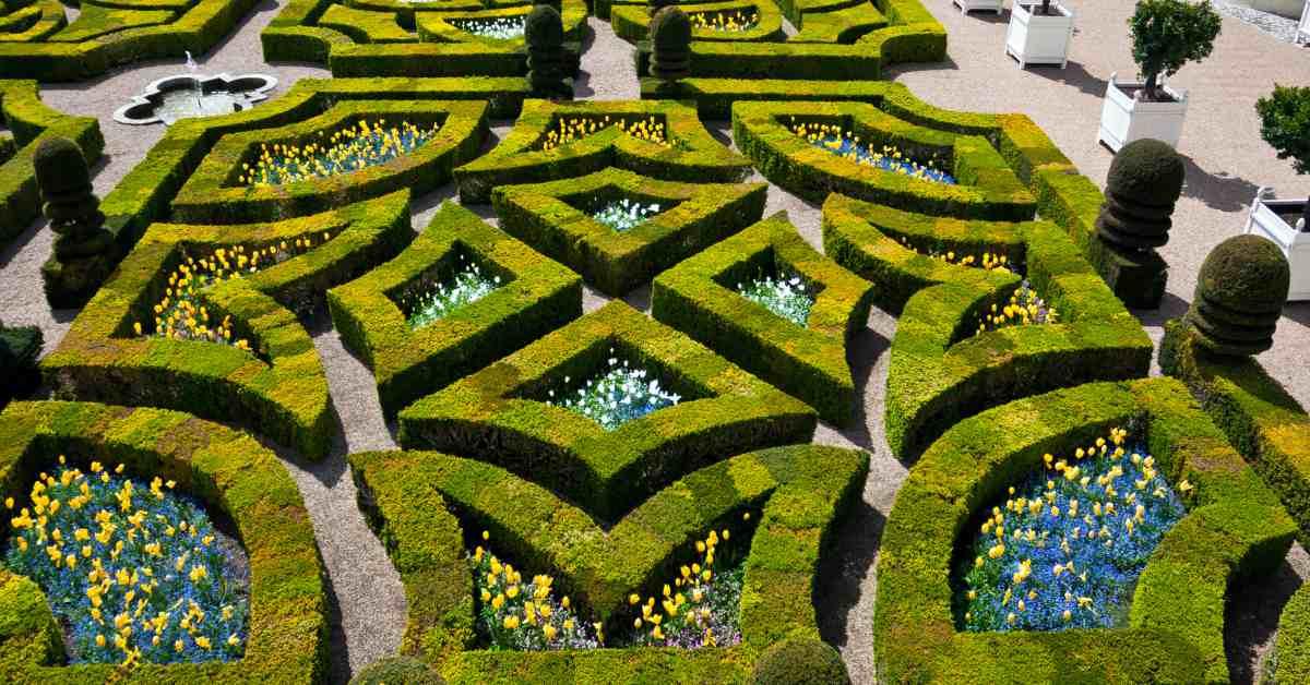 Symmetrie-van-Franse-tuin
