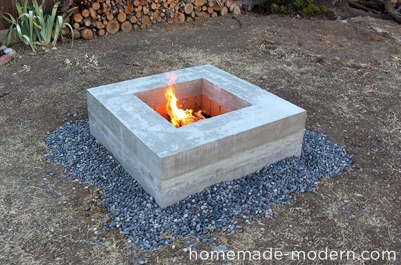 betonnen vuurplaats