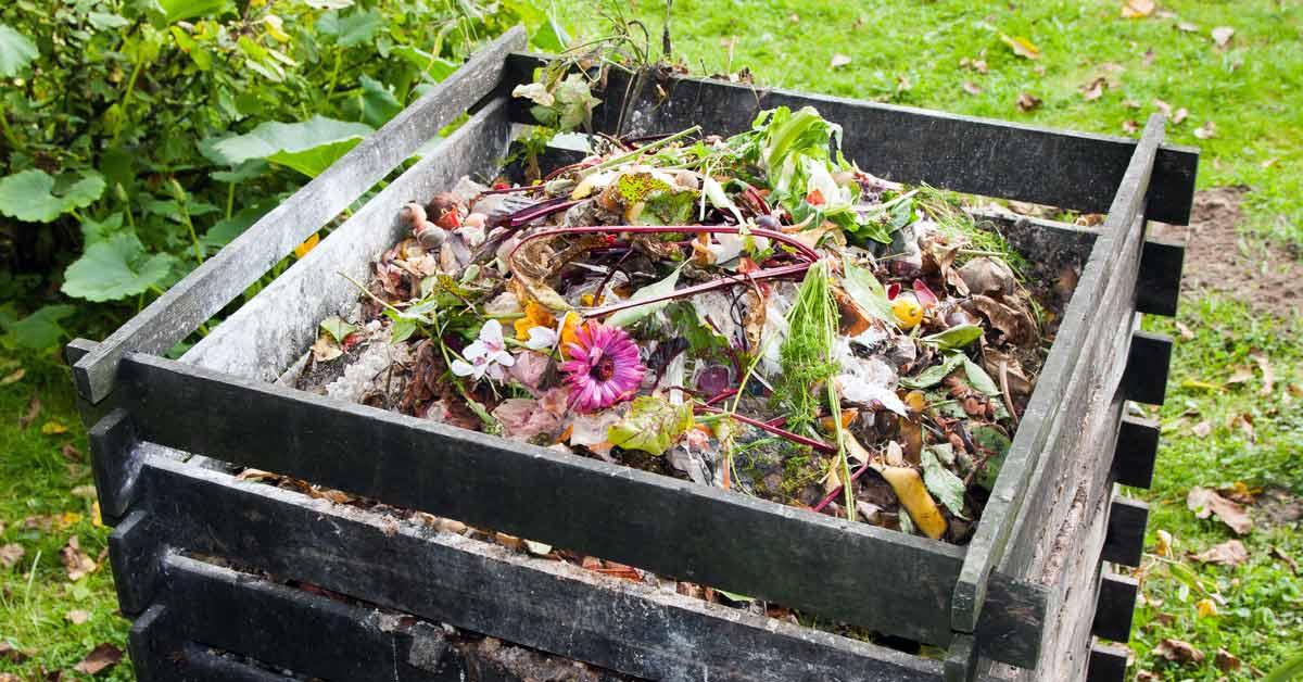 Open composthoop