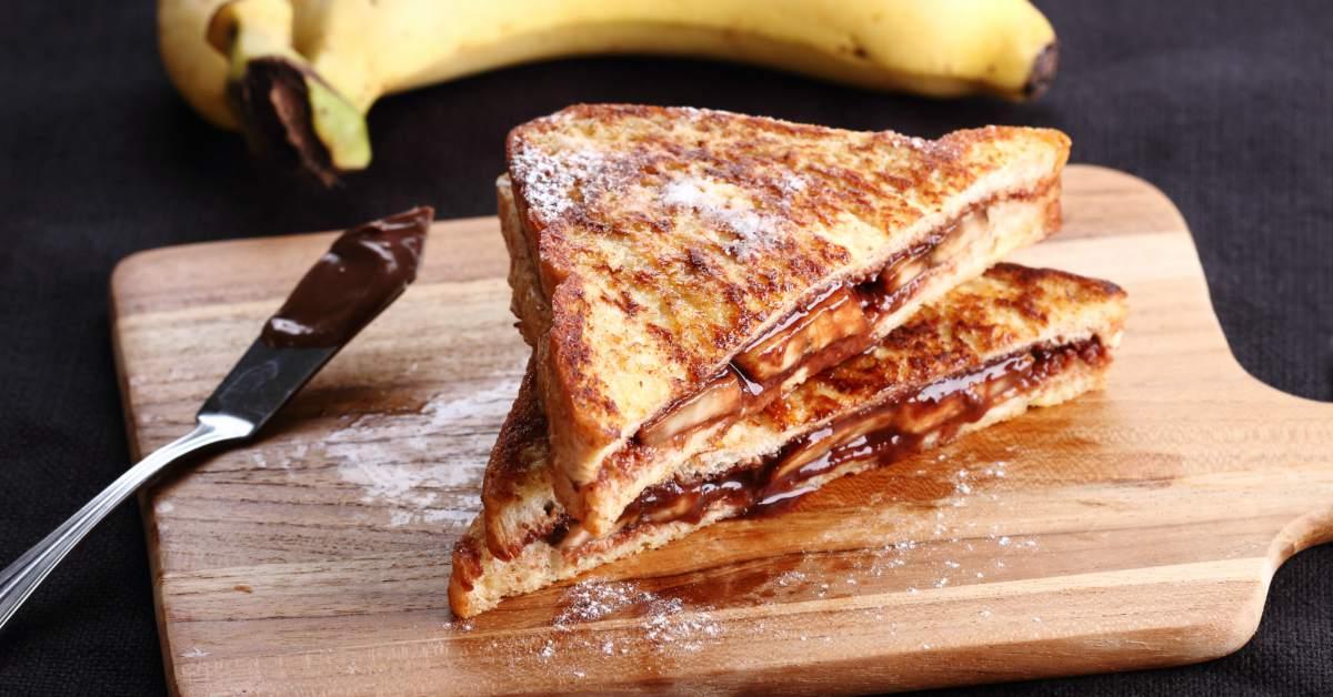 Tosti's-met-Nutella-en-banaan