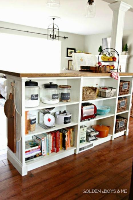 Billy-boekenkasten-in-de-keuken