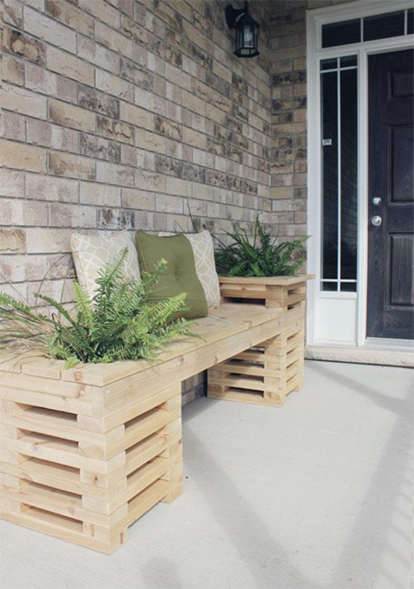 Ceder houten tuinbankje
