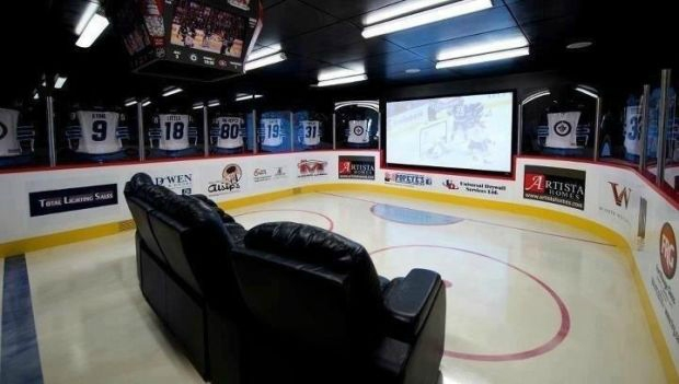Ijshockey-man-cave