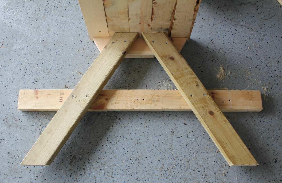 picknicktafel van pallets maken