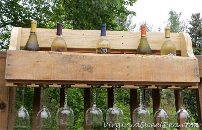 wijnrek van pallets