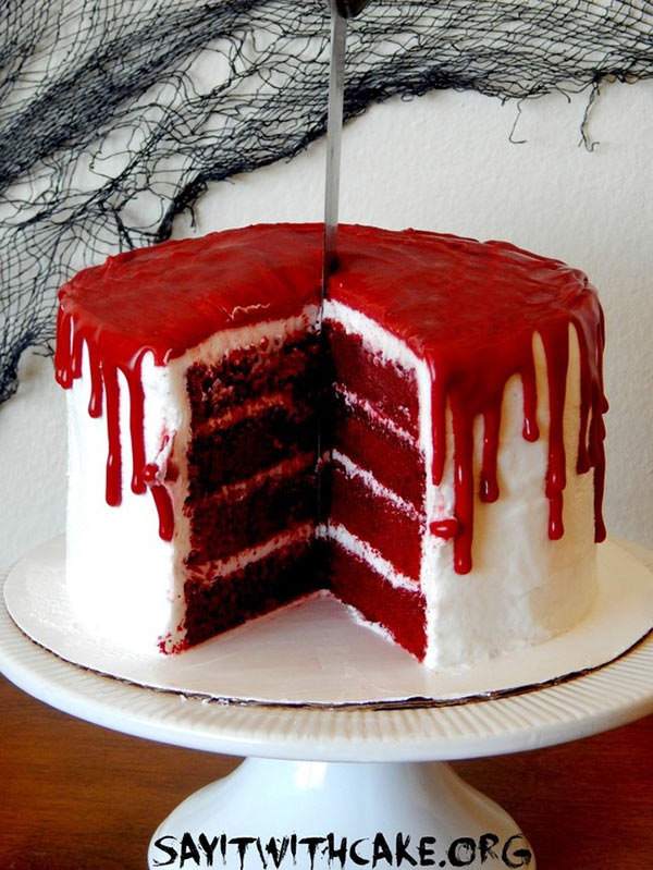 Bloederige taart