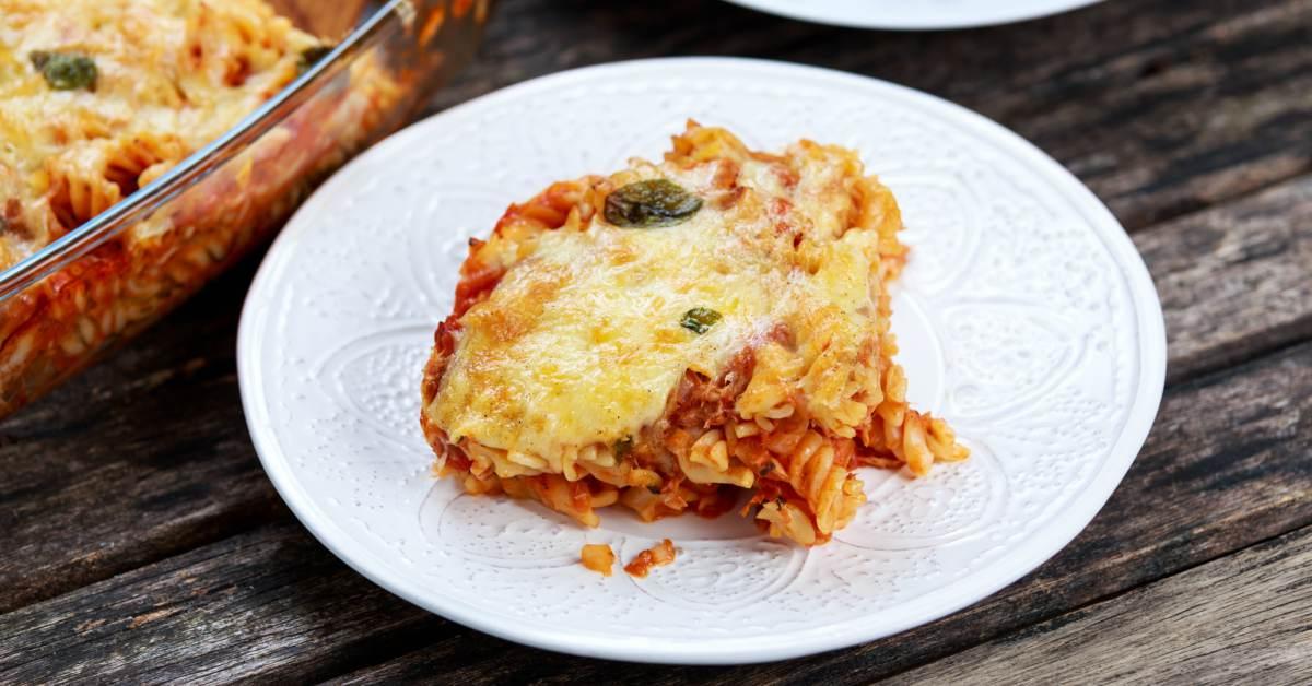 Ovenschotel met pasta