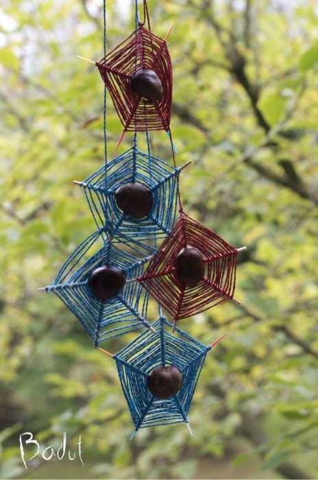Spinnenweb-van-kastanjes