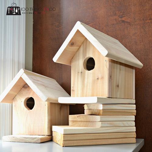 Traditioneel vogelhuisje
