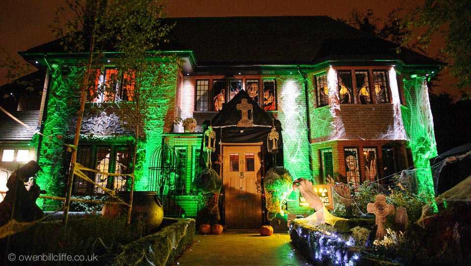 halloween huis groen