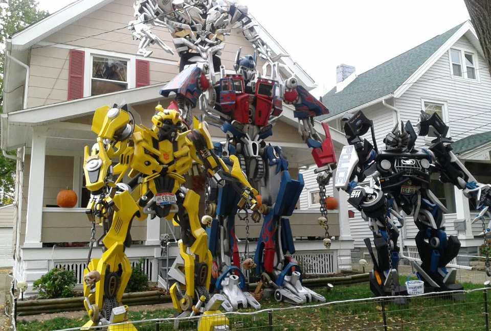 halloween huis transformers