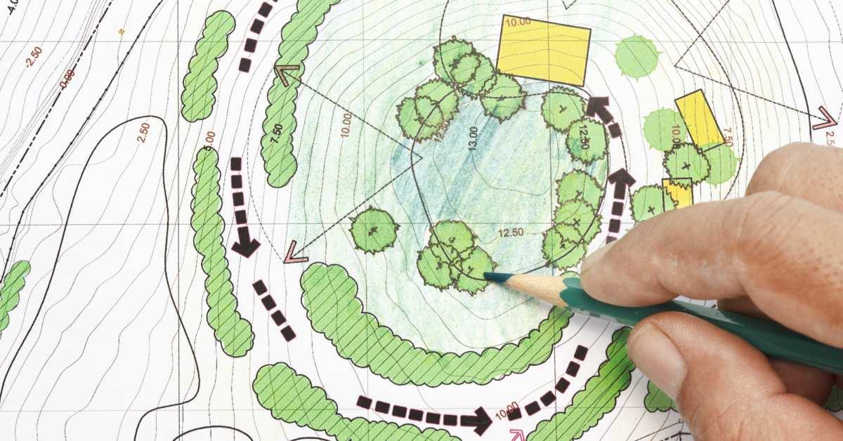 Beplantingsplan-schetsen