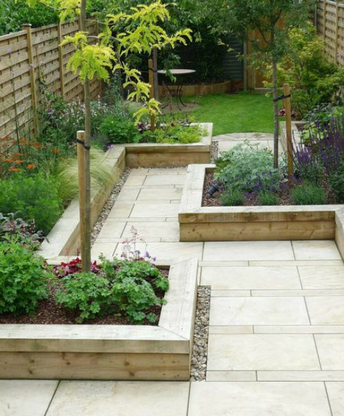 Voorbeelden van bestrating voor een kleine tuin met 6 for Kleine stadstuin ideeen