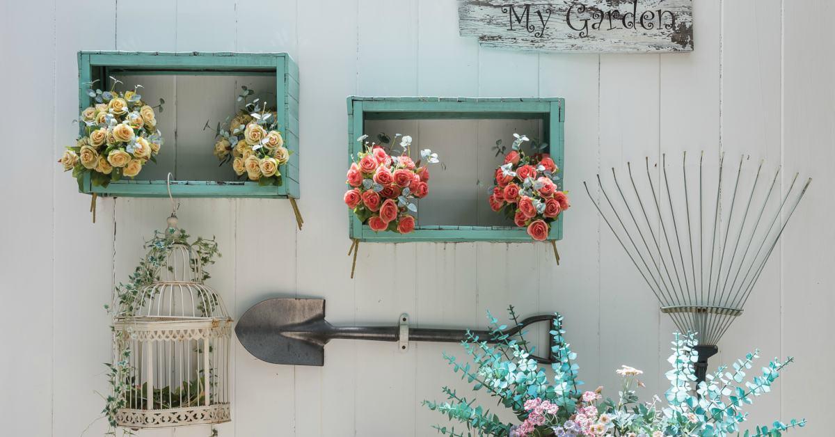 Vintage-tuindecoratie-voor-aan-de-muur