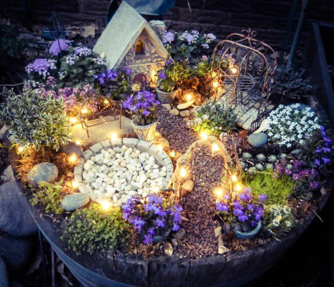 Fairy garden maken met lichtjes