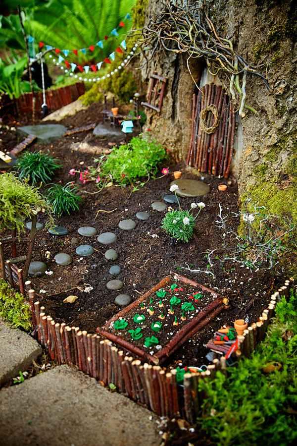 Moestuintje in fairy garden