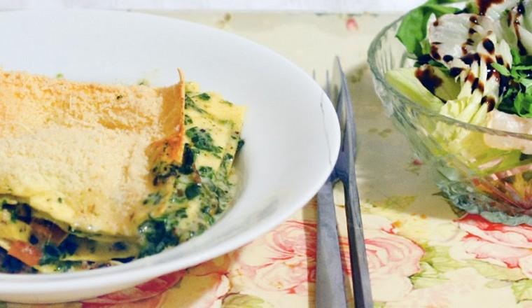 Romige lasagne met spinazie