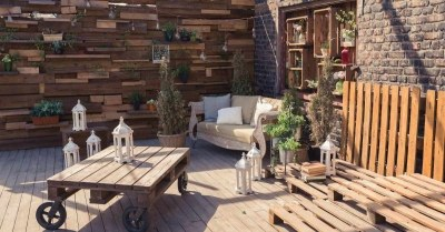Hout-tuin-terras