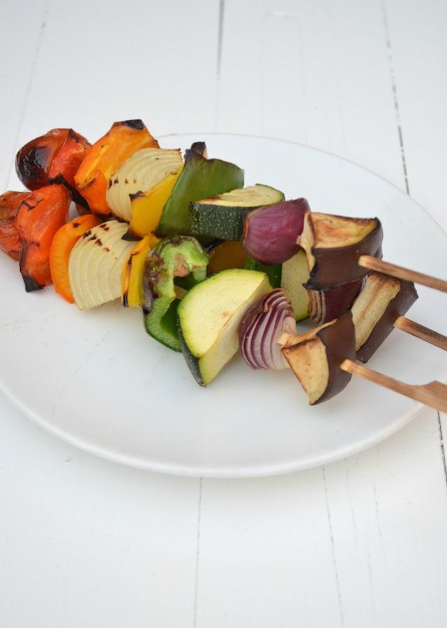Regenboog groente spies