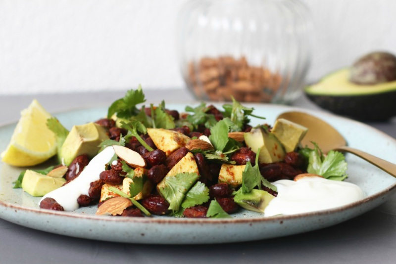 Salade-kidneybonen-avocado