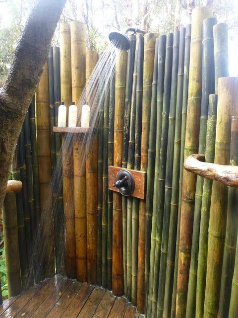 Bamboe buitendouche