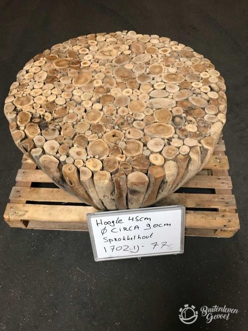 Sprokkelhouten tafel 90x45