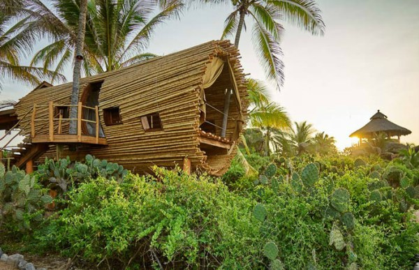 Boomhut van bamboe
