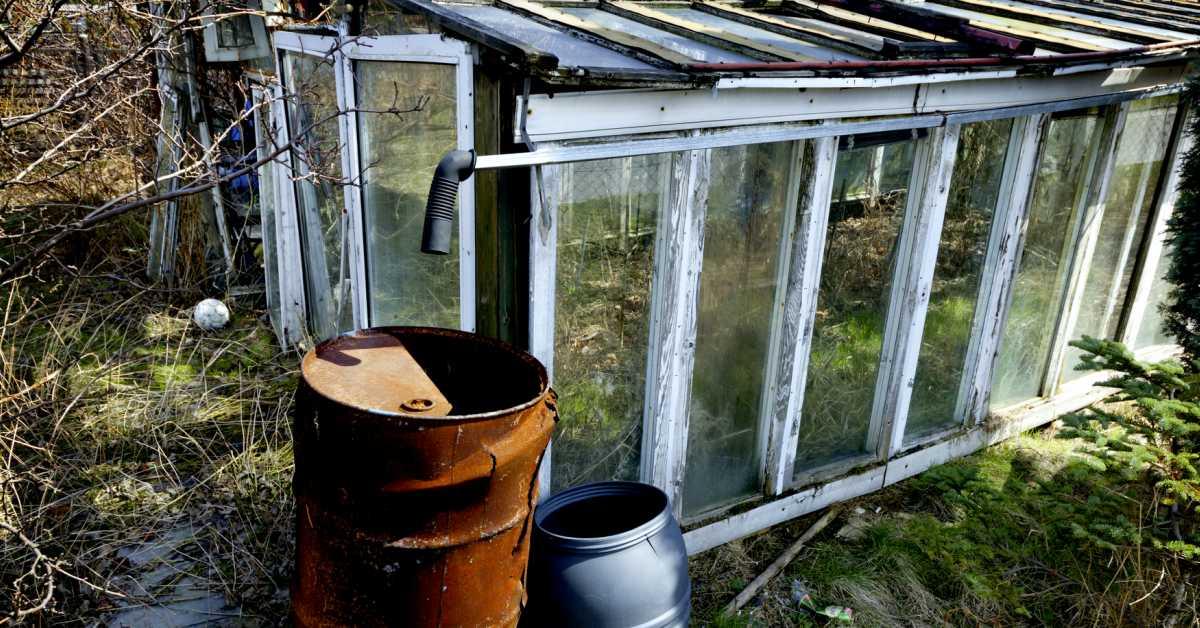 Oude tuinkas