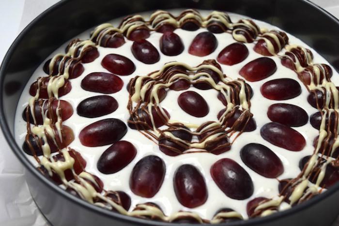 Yoghurttaart met druiven