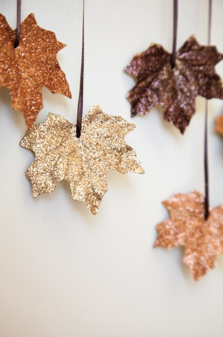 Glitter herfstbladeren
