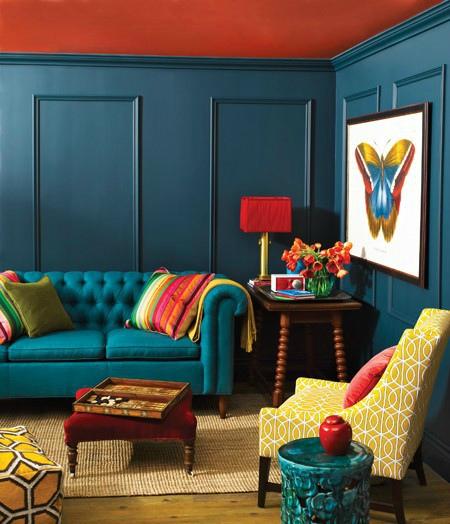 Kleurtrend Kracht woonkamer