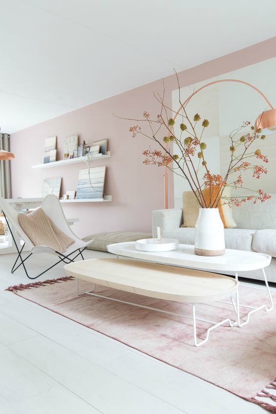 Kleurtrend Puur woonkamer