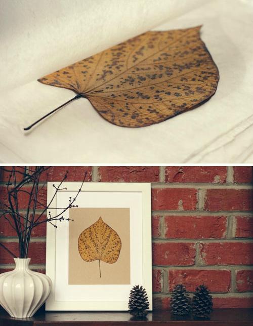 Kunstwerk van herfstbladeren