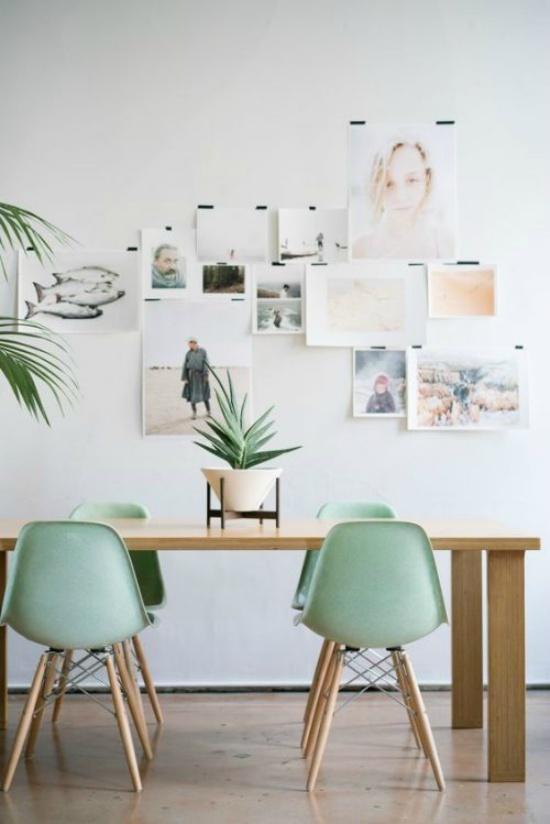 Mintgroene stoelen