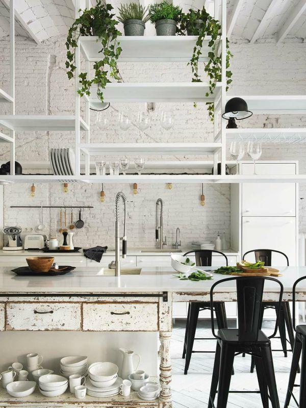 Planten hoog in keuken