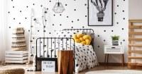 Slaapkamer met vliesbehang