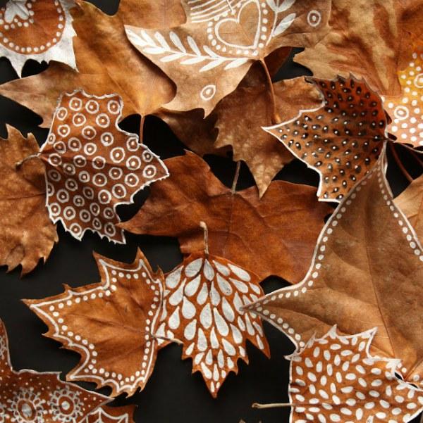 Stark design herfstblad