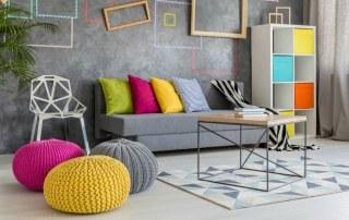 Bijzonder interieur met felle kleuren