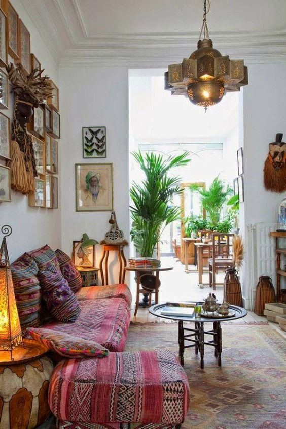 Bohemian interieur oosters tintje