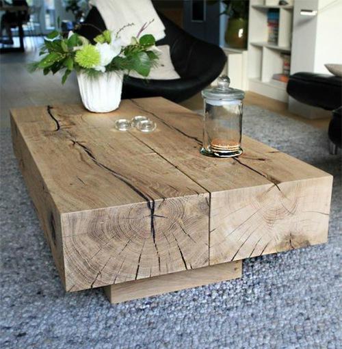 Gelamineerde massief houten salontafel