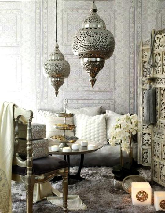Oriëntaals interieur lampen