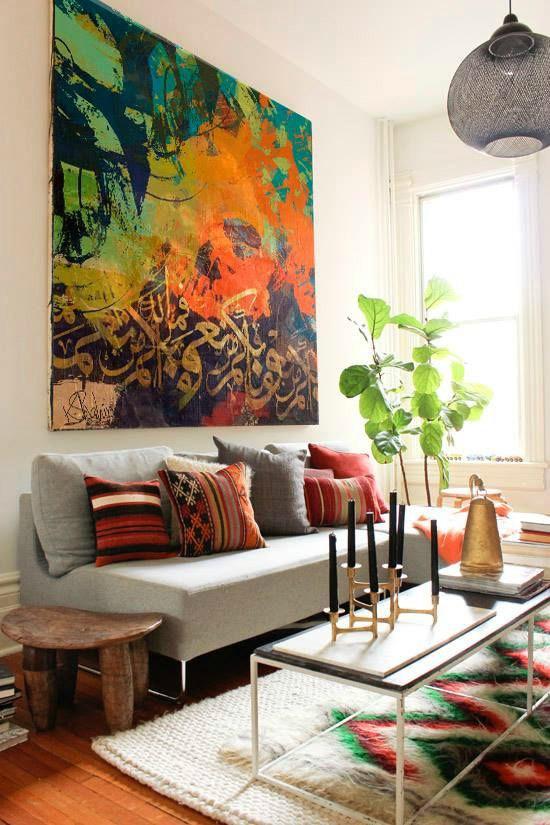 Oriëntaals interieur opvallende kleuren