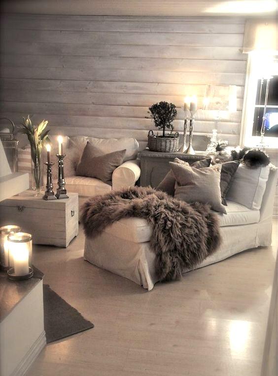 Romantisch interieur kaarsen