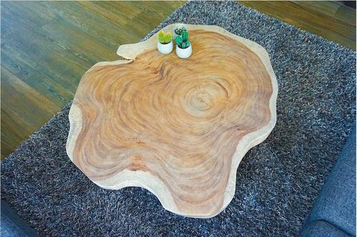 Massief houten salontafel
