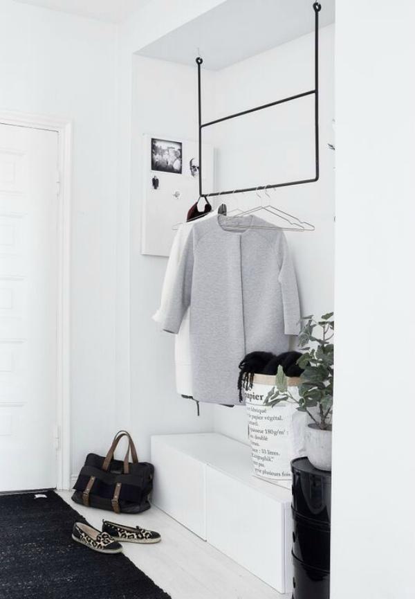 Wit en grijs in hal