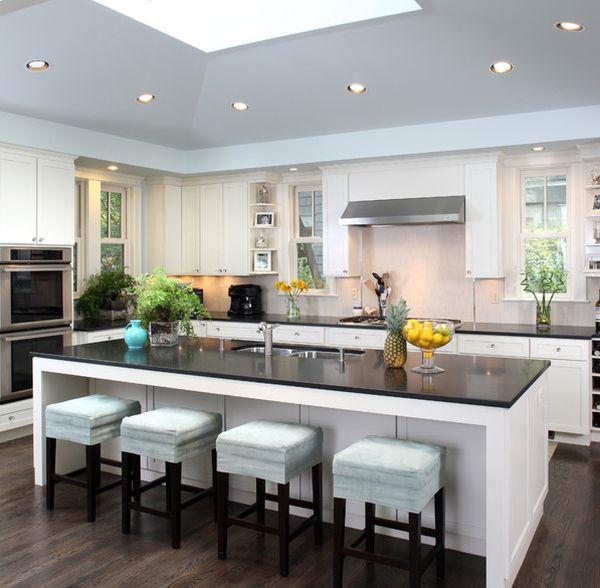 Keukeneiland met krukken