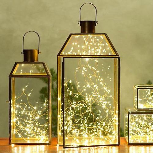Lantaarn met lampjes